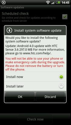 HTC Sensation Ice Cream Sandwich