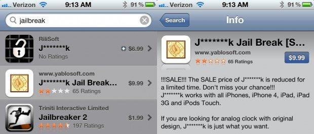 Apple-censors-Jailbreak