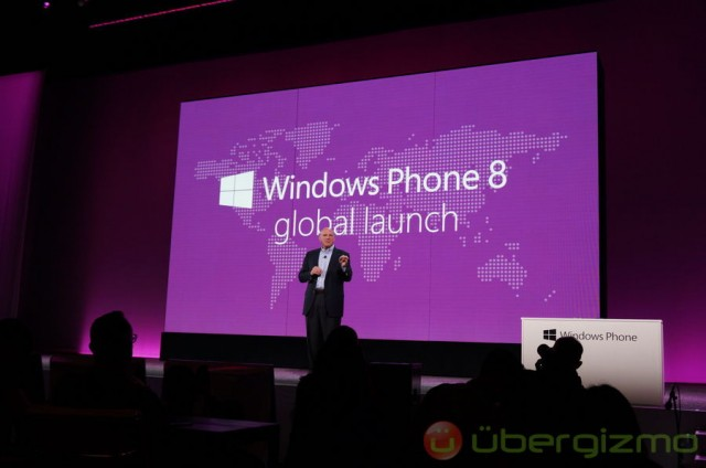 Steve Balmer launching Windows Phone 8
