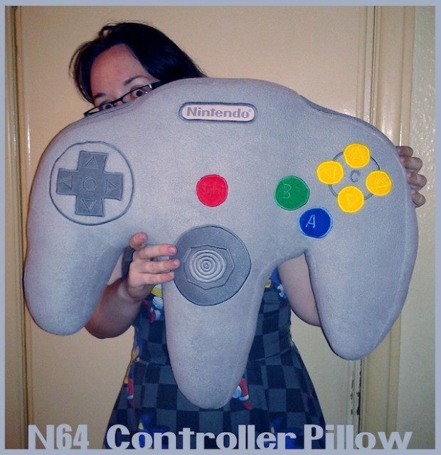 n64-controller-pillow