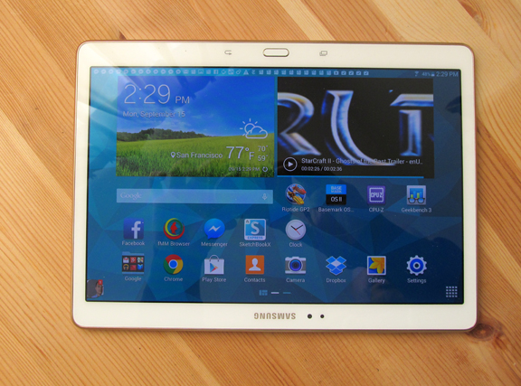 Samsung Galaxy Tab S 10.5 (photo taken with Canon PowerShot SX150 IS)