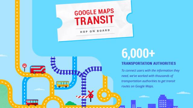 Google maps real time transit