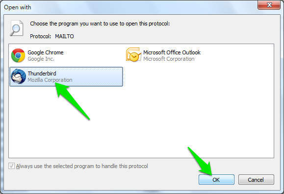 How To Set The Default Email Client (Windows 7 and 8