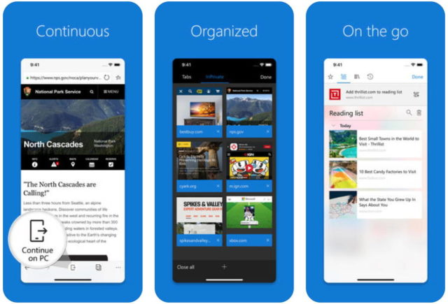 Microsoft Edge For iOS Updated With 3D Touch Support | Ubergizmo