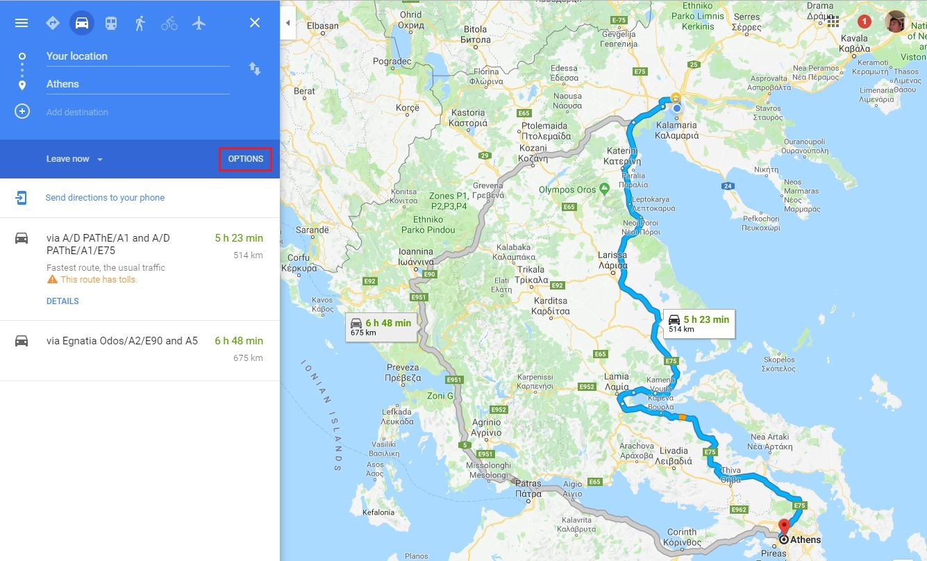 How To Avoid Toll Roads In Google Maps Ubergizmo