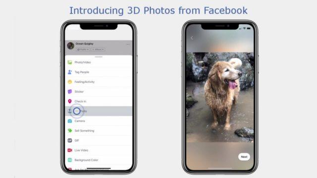 Facebook inizia a implementare il supporto per le foto 3D