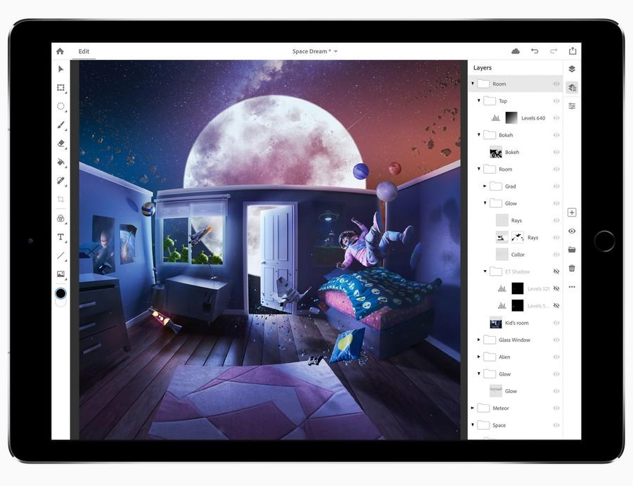 O Photoshop para iPad ainda está sendo lançado em 2019, mas pode ter alguns recursos ausentes