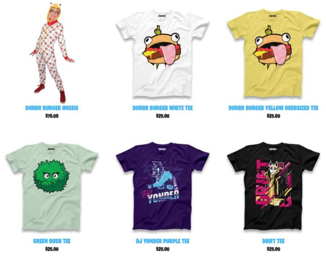 Official Fortnite Merch Store Has Been Launched | Ubergizmo