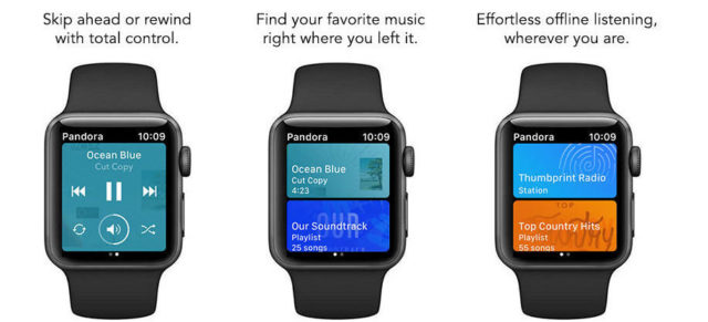 Pandora Now Supports Offline Playback On Apple Watch | Ubergizmo