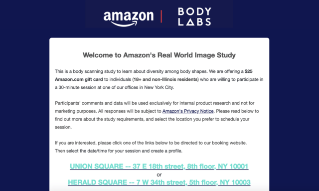 Give Amazon A 3D Scan Of Your Body, Get A $25 Gift Card | Ubergizmo