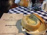 Creamy Garlic Soup in Bread - Bratislava Flagship Restaurant
