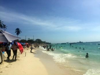 Decepcões de viagem em Playa Blanca, Cartagena