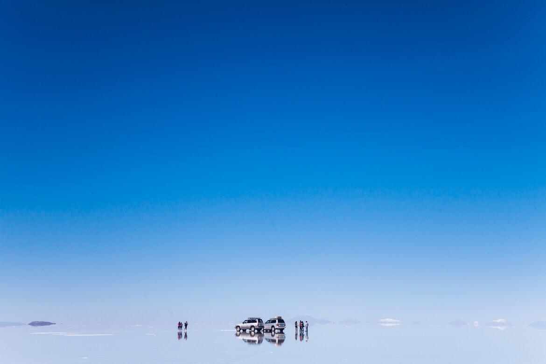 A imensidão do Salar de Uyuni