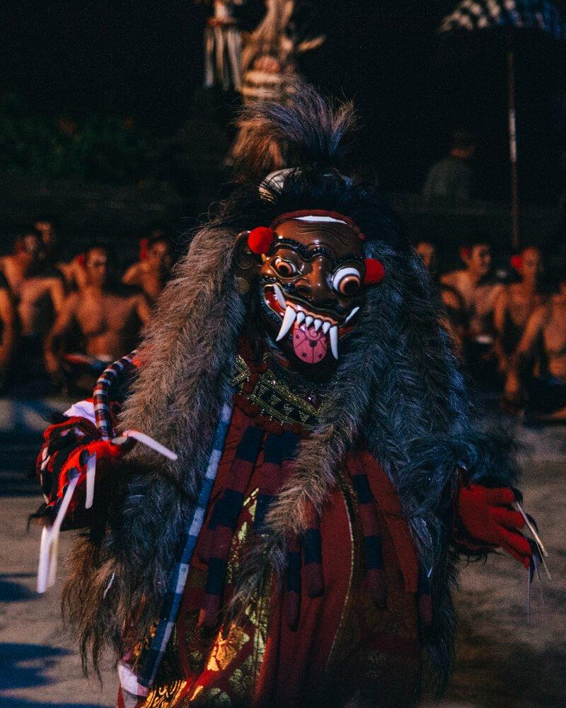 Kecak Dance, Uluwatu, Bali, Indonésia - vilões