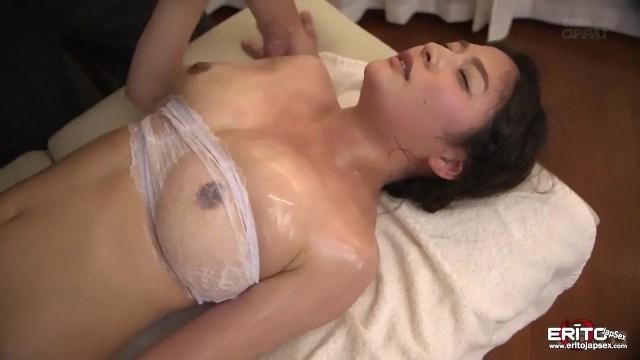 Huge Tits Japanese Hottie Meguri Sensual Massage Turned Sex