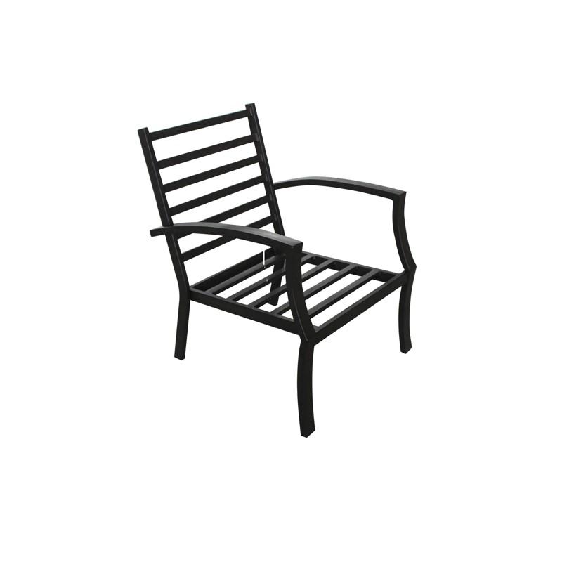 lot de 4 chaises de jardin crozet aspect fer forge noir fauteuil de jardin