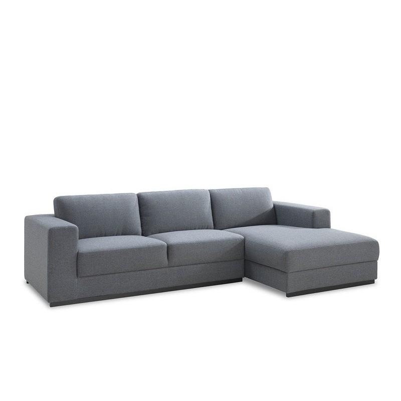 canape d angle cote droit design 4 places avec meridienne magalie en tissu gris canape d angle