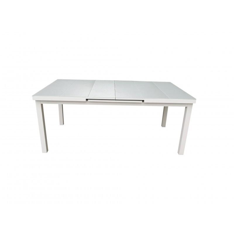 table a manger extensible 10 12 personnes mitron en aluminium blanc table de salle a manger et table haute