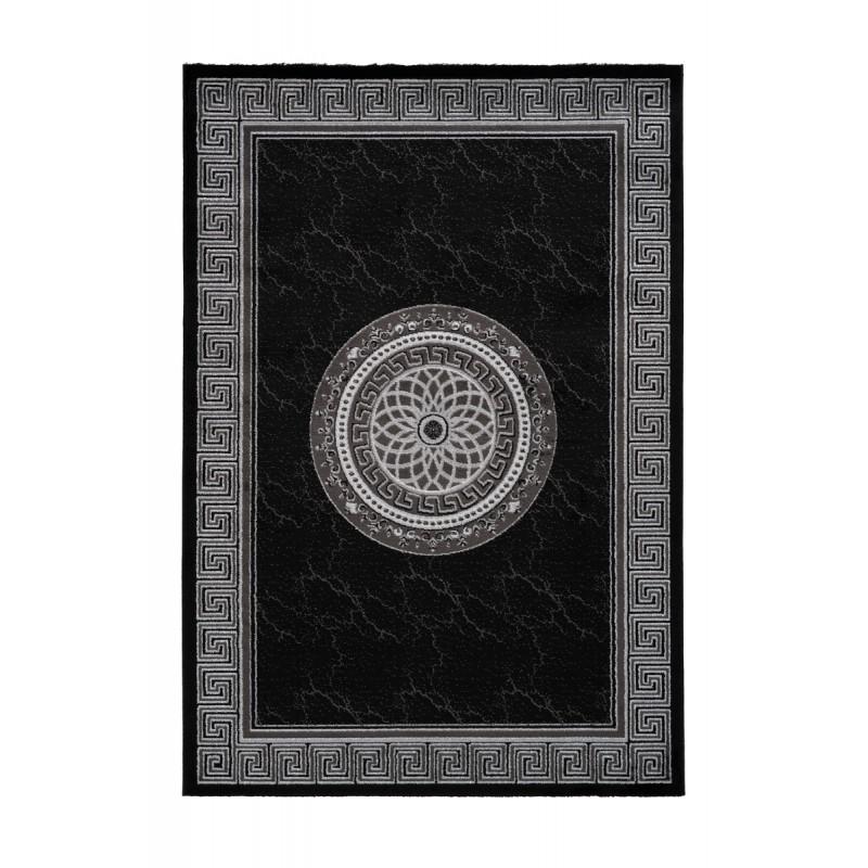 orientteppich rechteckige meknes gewebte maschine schwarz orientteppich