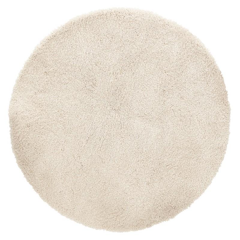 tapis design rond o 160 cm sabrina beige tapis moderne et contemporain