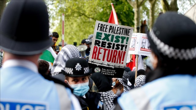 UK police accused of 'inhumane' tactics on pro-Palestinian protesters