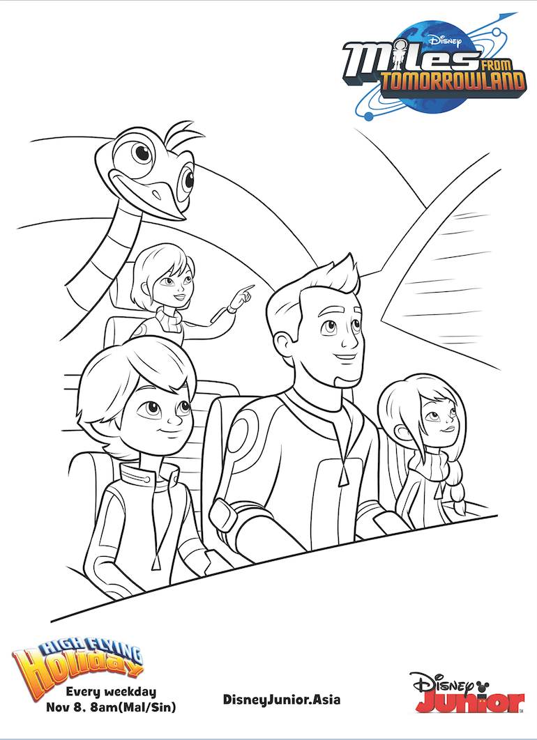 Miles From Tomorrowland Callisto Family Colouring Page Disney
