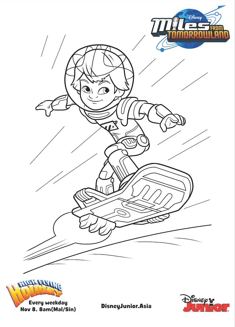 from tomorrowland miles colouring page disney junior philippines