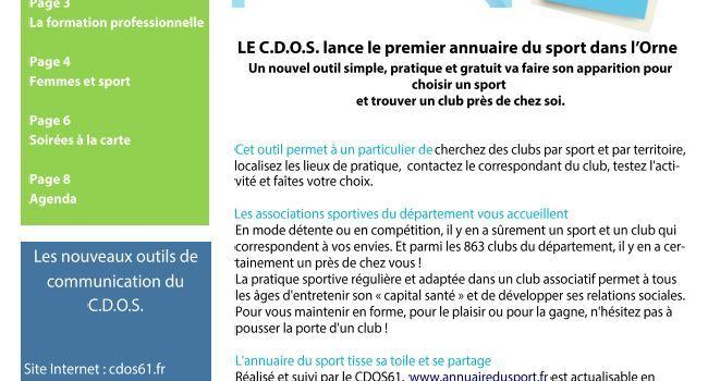 Journal Orn'Sport de Décembre  2014