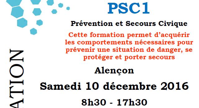 Prochaine formation : PCS1 – Alençon, 18 novembre 2017