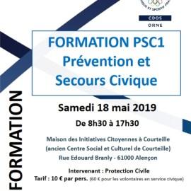 Prochaine formation : PSC1 – Alençon, 18 mai 2019