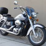 Used 2003 Honda Shadow Ace 750 Deluxe Metallic Silver Black Motorcycles In Roselle Il 700094