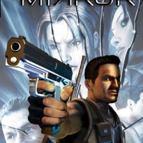 The cover art of the game Syphon Filter: Dark Mirror.