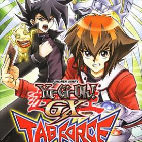 The cover art of the game Yu-Gi-Oh! GX Tag Force.