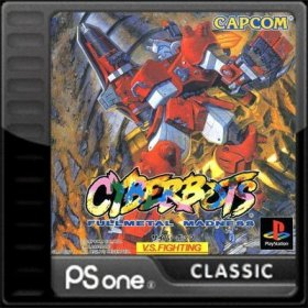 The cover art of the game Cyberbots: Full Metal Madness.