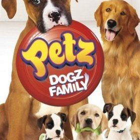 The cover art of the game Petz: Dogz Family.