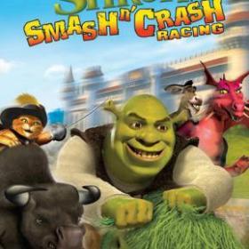 The cover art of the game Shrek: Smash n' Crash Racing.
