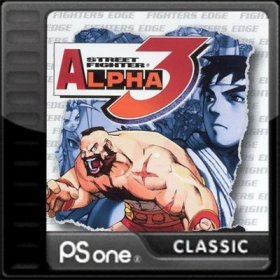 The cover art of the game Street Fighter Alpha 3.