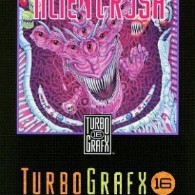The cover art of the game Alien Crush .