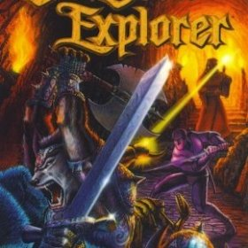 The cover art of the game Dungeon Explorer.