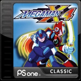 The cover art of the game Mega Man X4.