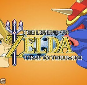 The cover art of the game Zelda: Time to Triumph.
