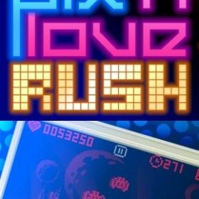 The cover art of the game Pix'n Love Rush.
