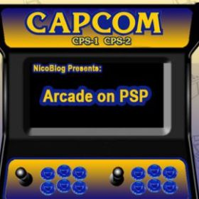The cover art of the game Play Arcade Game Roms on PSP: CPS1/CPS2.