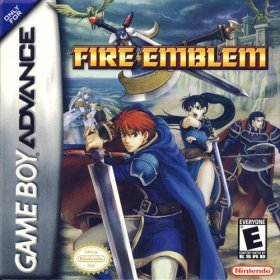 The cover art of the game Fire Emblem.