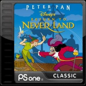 The cover art of the game Peter Pan in Disney's Return to Neverland.
