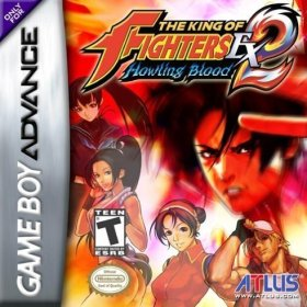 The cover art of the game The King of Fighters EX2: Howling Blood.