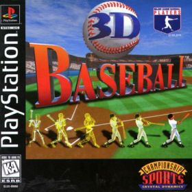 The cover art of the game 3D Baseball.