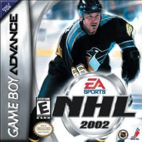 The cover art of the game NHL 2002.