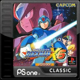 The cover art of the game RockMan X6.