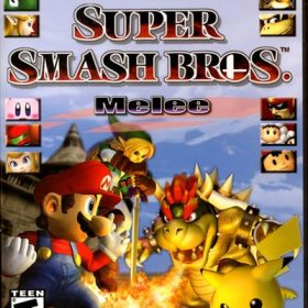 The cover art of the game Super Smash Bros. Melee.